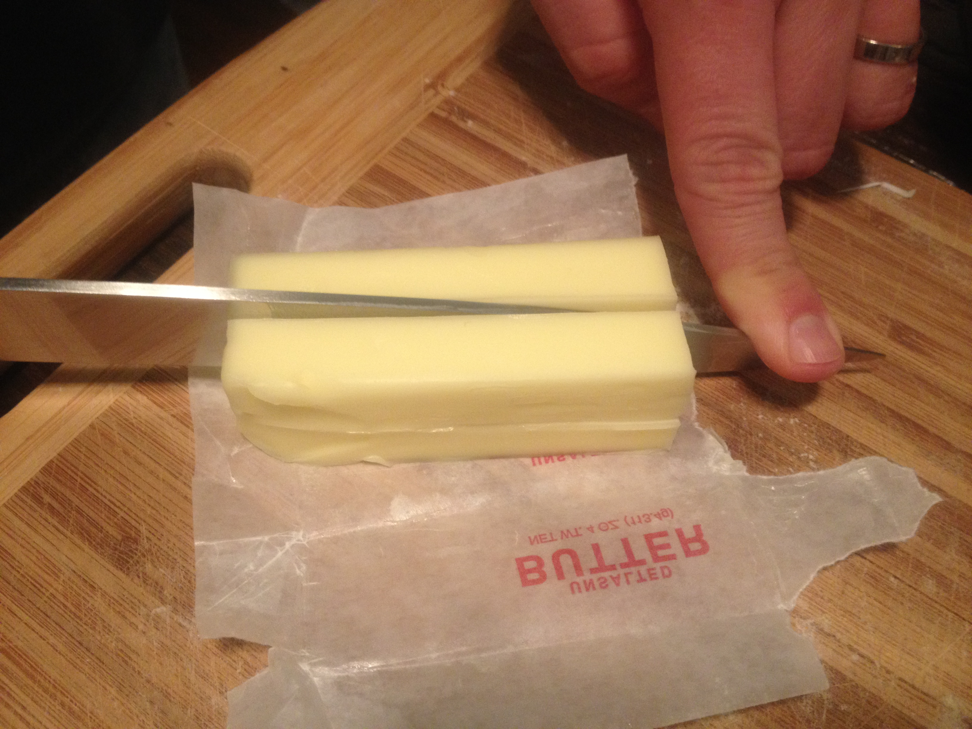 cube your butter to make it easier to knead dough