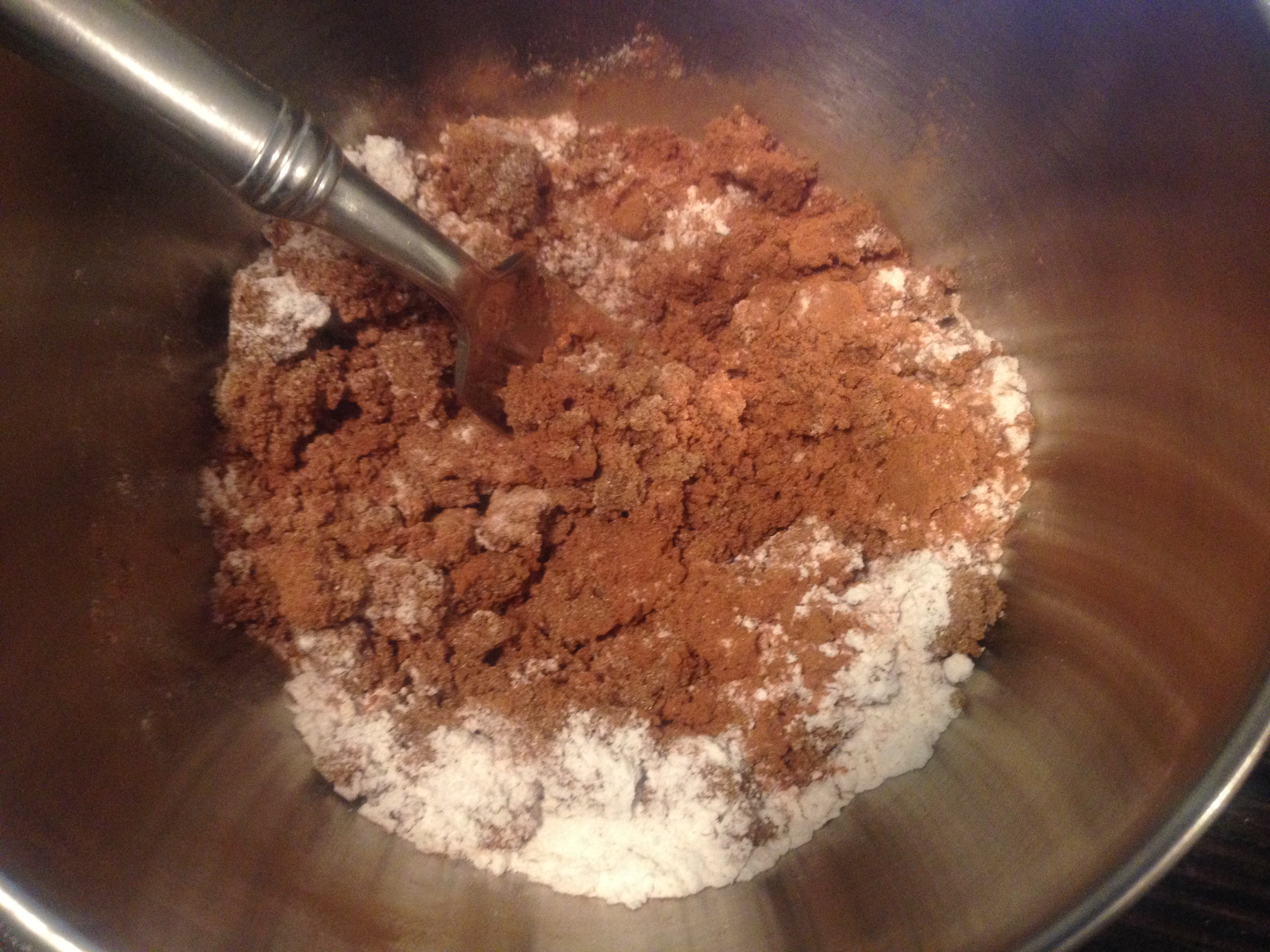 mix up your brown sugar, cinnamon and flour for your filling