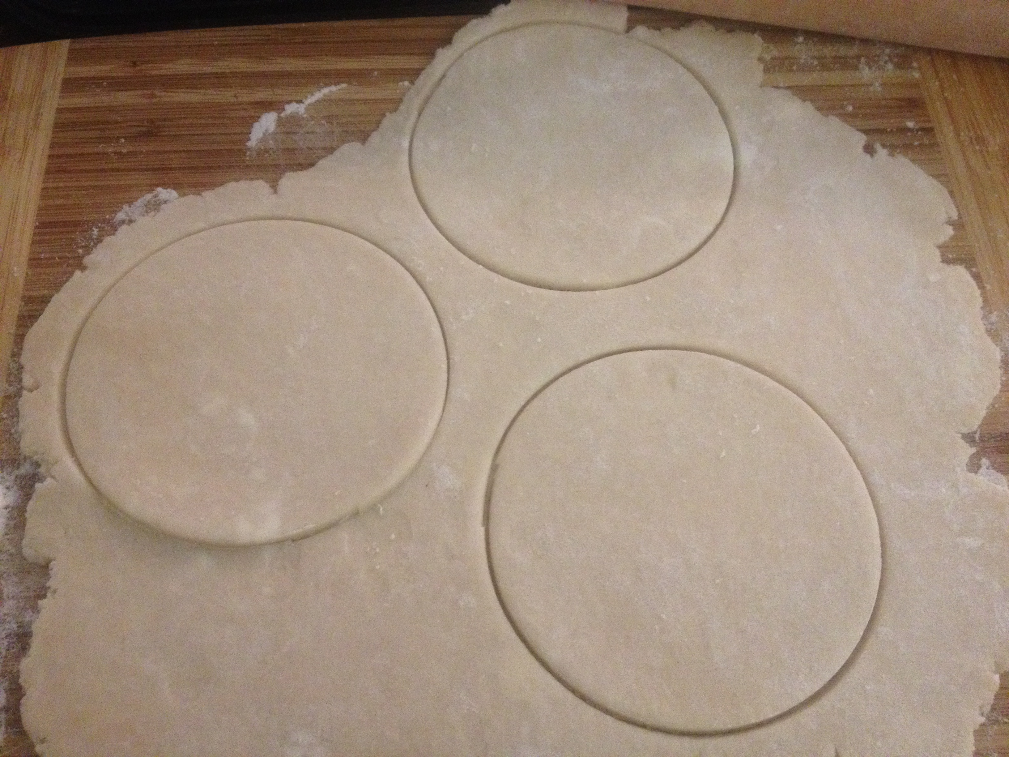 make sure your dough is the same thickness