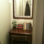 Our closet office - a quiet place to write