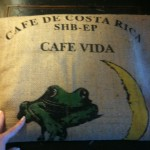 Centering the image of the burlap bag on seat