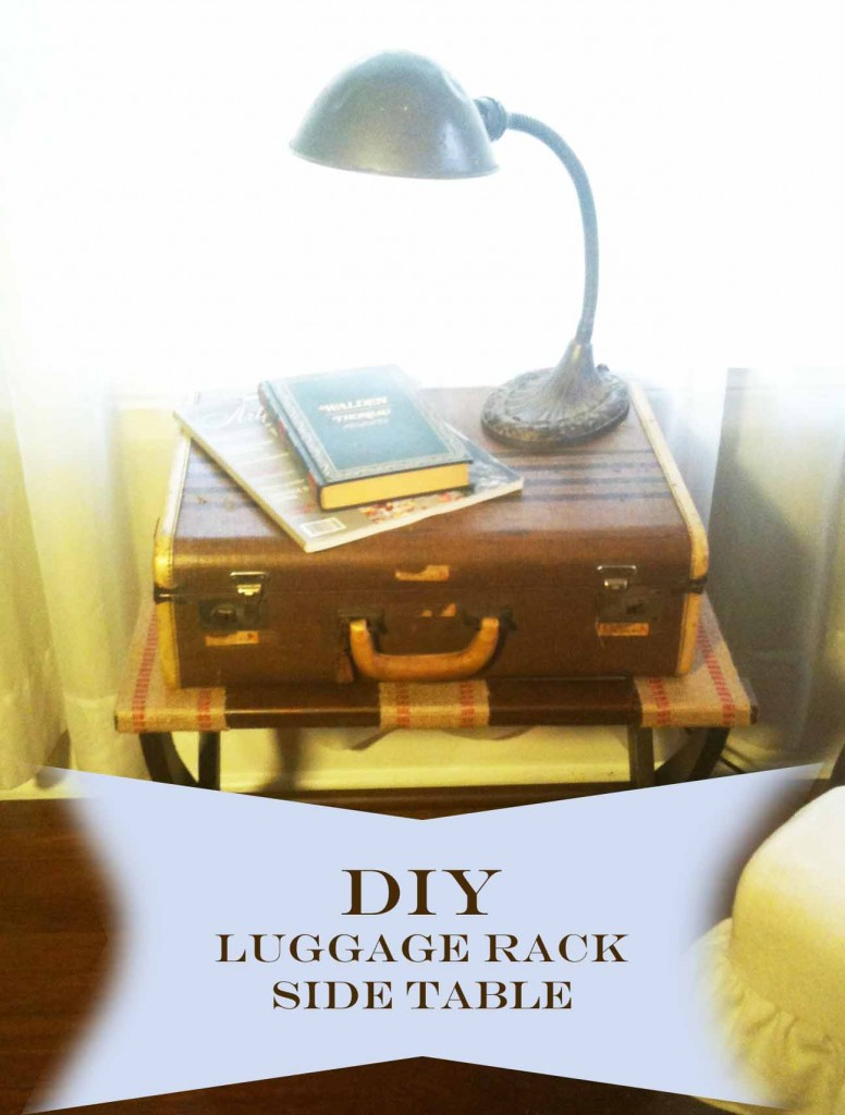 Danielle Hatfield's DIY Luggage Rack Side Table