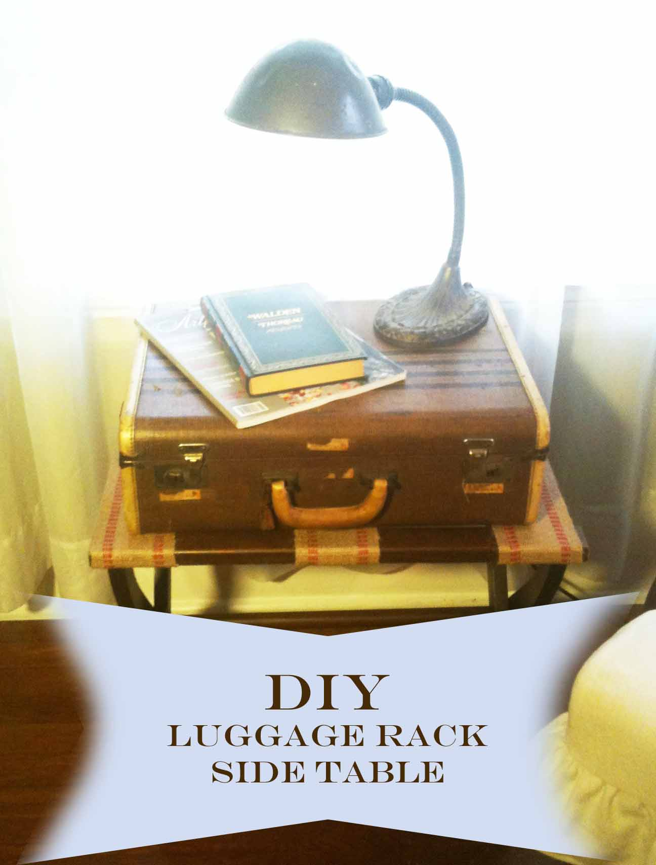 DIY : Luggage Rack Side Table