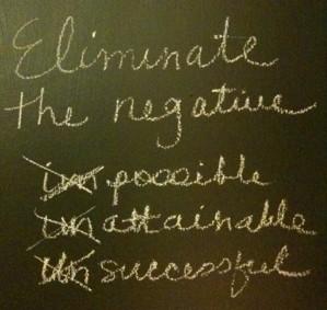 eliminante the negative