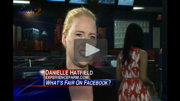 Danielle Hatfield's interview with Phillip Jones of WFMY News 2 on Facebook and Politics
