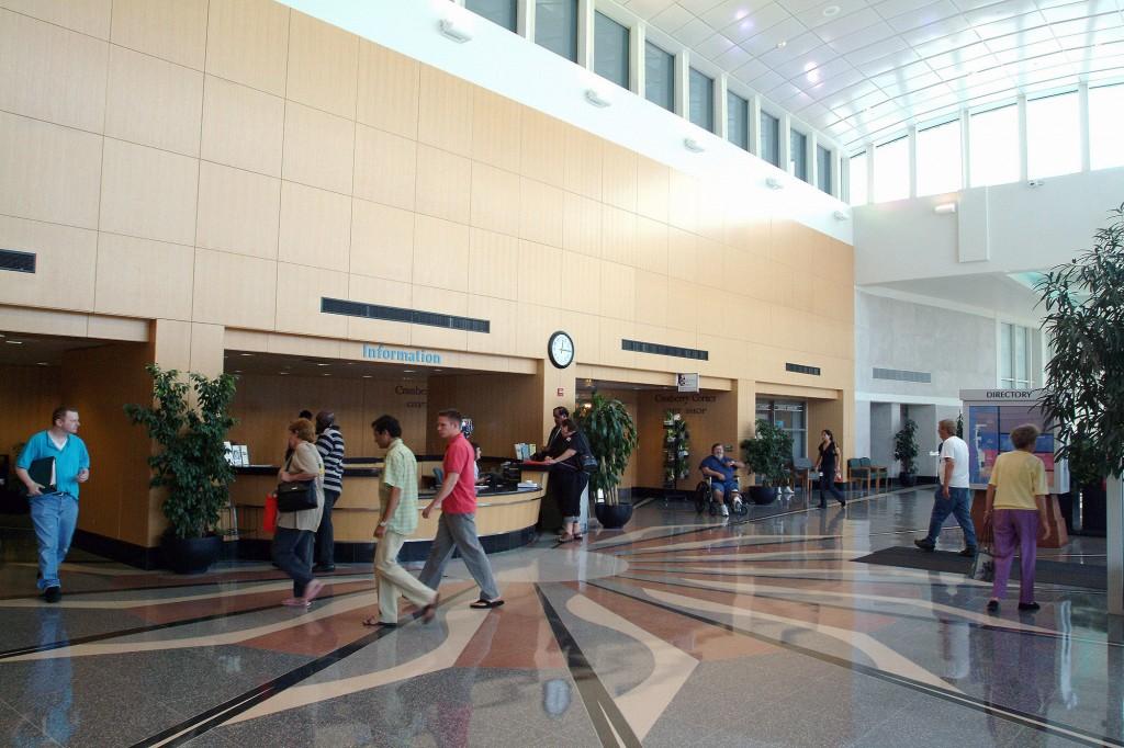 NC Memorial Hospital Lobby [Photo credit UNC School of Medicine]