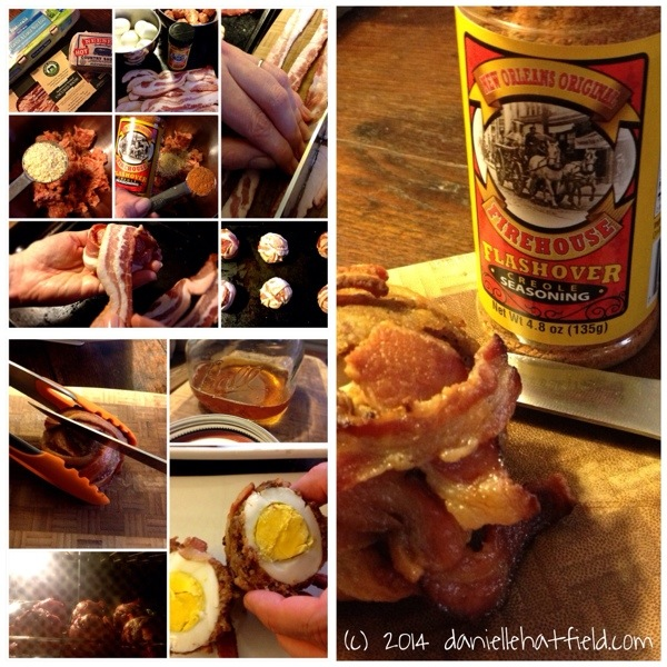 Recipe: Bacon Wrapped Flashover Scotch Eggs, daniellehatfield.com