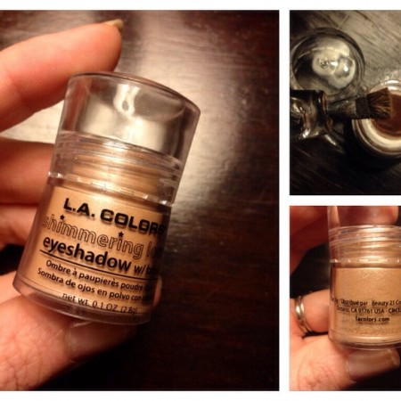 Review: LA Colors shimmering loose eyeshadow with brush