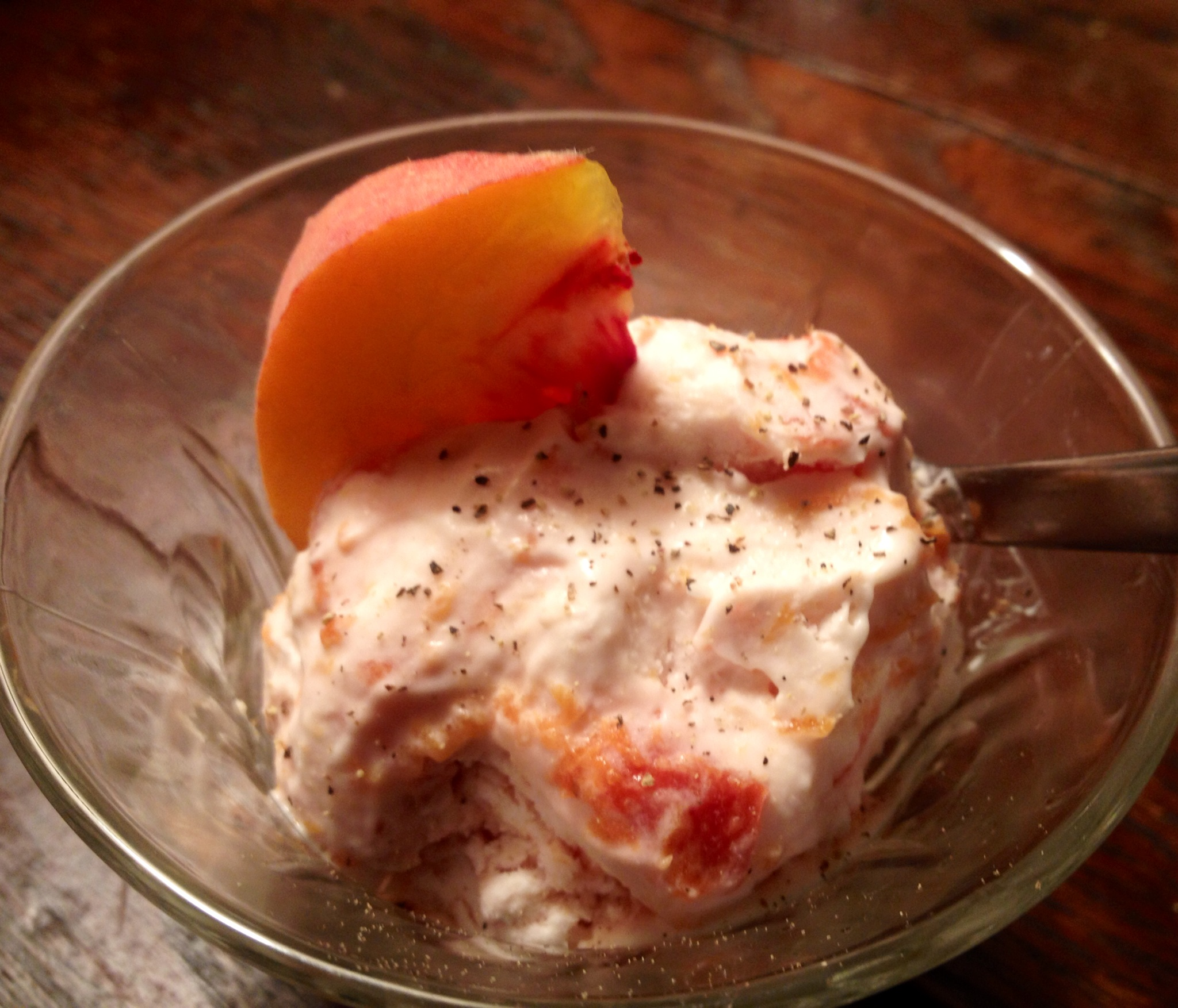 Recipe: Peach Pepper Ice Cream