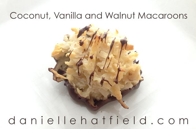 Coconut, Vanilla and Walnut Macaroons Recipe