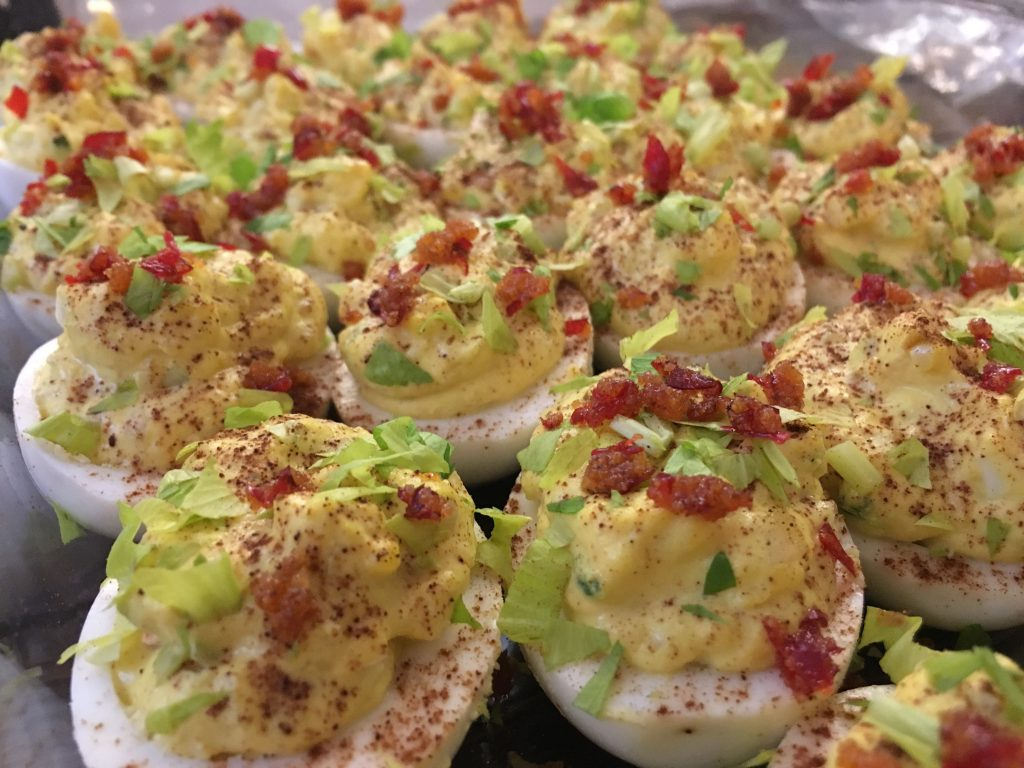Danielle Hatfield's devilish spicy deviled eggs